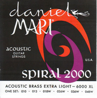 #6000-XL Daniel Mari Acoustic Brass Guitar Strings - EXTRA LIGHT GAUGE